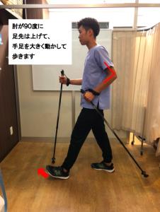 脊柱管狭窄症のノルディックウォーク杖での歩き方